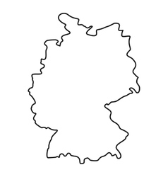 Germany map icon outline style vector