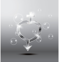 heart sex vector image