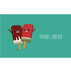 Ice cream friend vector