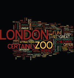 London zoo text background word cloud concept vector
