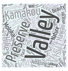 Must visit molokai attractions word cloud concept vector