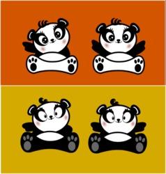 Panda cute1 vector