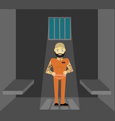 prisoner flat of prison vector image