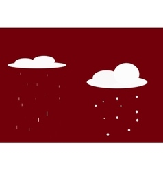 Rain and snow-01 vector
