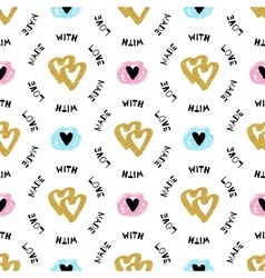 Romantic seamless pattern repeating love vector
