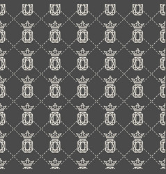 seamless pattern with gemstone and crown vector image