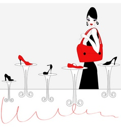Shoe shopping background vector