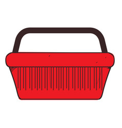 shopping basket colored button with a black vector image