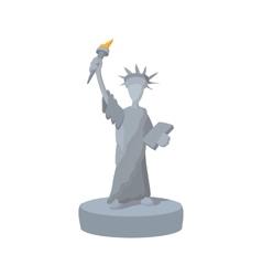 Statue of liberty cartoon icon vector