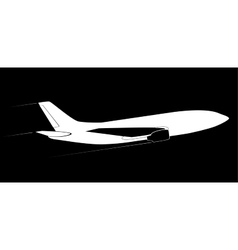 The contour of the modern jet aircraft Side view vector image vector image