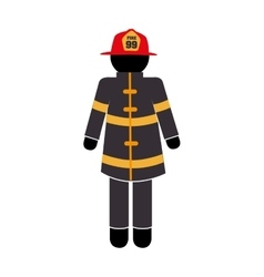 Uniform fire equipement service emergency vector