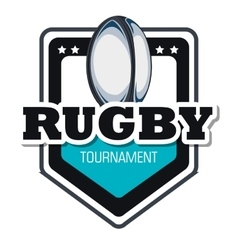 Rugby goal tournament emblem graphic vector