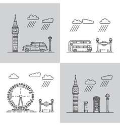 symbols of London city vector image