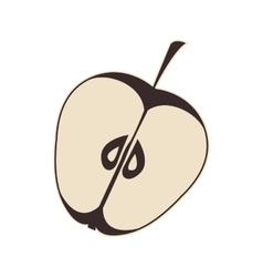 Apple fruit food vector