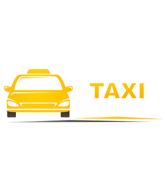 Taxi and blank place vector