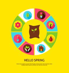 hello spring concept vector image