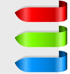 Blank color ribbon arrows design element vector