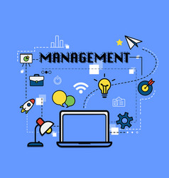 Management graphic for business concept vector