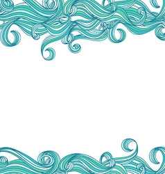 background with hand drawn waves vector image