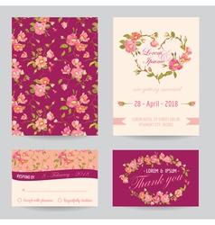 Invitation Congratulation Card Set vector image