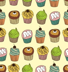muffin seamless vector image