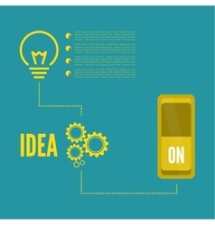 Bulb light idea with switch and gears vector