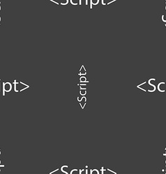 Script sign icon javascript code symbol seamless vector