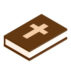 Bible isometric 3d icon vector