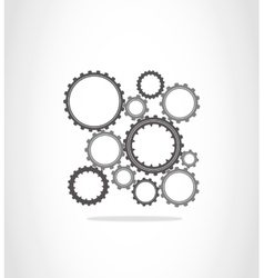 The gray and dark gray gears vector