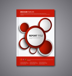 Brochures book or flyer with abstract red circles vector