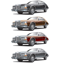 Vintage luxurious car vector