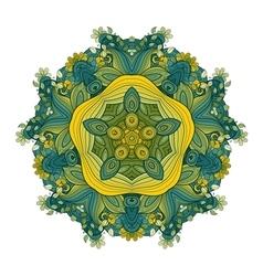 Beautiful Deco Colored Contour Star vector image
