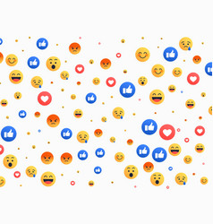 Abstract isolated emoji background icons vector