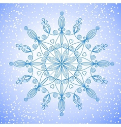 Beautiful large snowflake vector image vector image