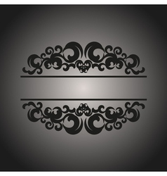 Black vintage pattern on gray background vector