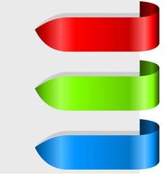 Blank color ribbon arrows design element vector image