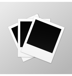Blank retro photo frames close up vector