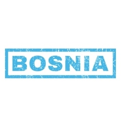Bosnia rubber stamp vector