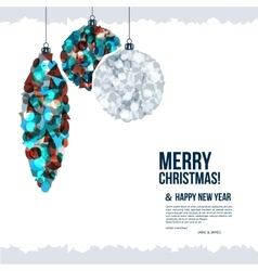 Christmas card with christmas balls composed of vector