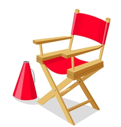Directors chair vector