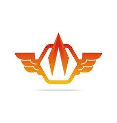 Electricity power wings icon design symbol vector