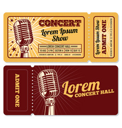 event or concert ticket admission entry isolated vector image vector image