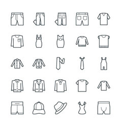 Fashion and clothes cool icons 8 vector
