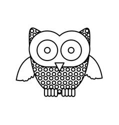 Figure stamp owl icon vector