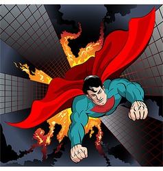 Flying superhero vector