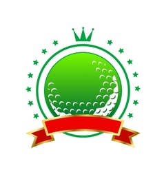 Golfing championship icon or winners banner vector image vector image