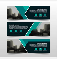 Green triangle corporate business banner template vector