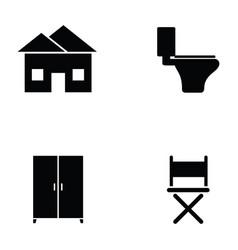 home icon set vector image vector image