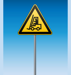 international safety warning sign carefully lift vector image vector image