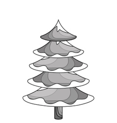 Merry christmas tree celebration vector